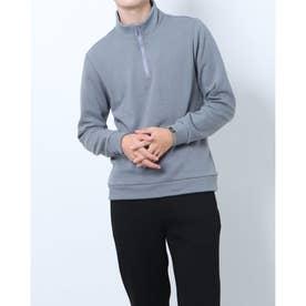 メンズ ゴルフ 長袖シャツ WHITE LABEL 蓄熱保温ストレッチ裏起毛ジップシャツ TR-1L1581Z (他)