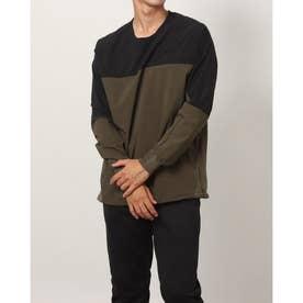 メンズ 陸上/ランニング 長袖Tシャツ - TR-3R1601PO (カーキ)
