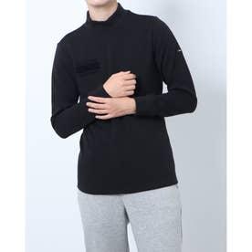 メンズ ゴルフ 長袖シャツ GREEN LABEL 蓄熱保温ストレッチ裏起毛ハイネックシャツ TR-1L1551H (ブラック)