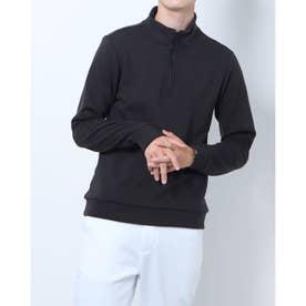 メンズ ゴルフ 長袖シャツ WHITE LABEL 蓄熱保温ストレッチ裏起毛ジップシャツ TR-1L1581Z (ブラック)