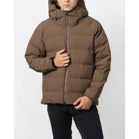 メンズ 中綿ジャケット SMARTアルミパデットフードジャケット TR-9C1621IJB (ブラウン)