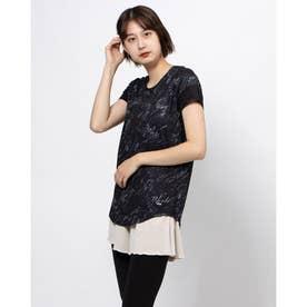 レディース フィットネス 半袖Tシャツ TR-3F2710TS (ブラック)