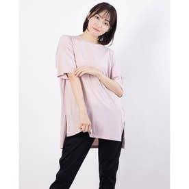 レディース 陸上/ランニング 半袖Tシャツ TR-3R2221TS (ピンク)