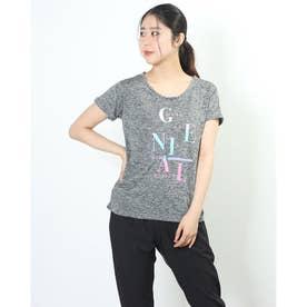 レディース フィットネス 半袖Tシャツ TR-3F2241TS (グレー)