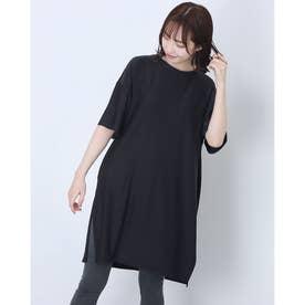 レディース フィットネス チュニックシャツ TR-3F2291ON (ブラック)