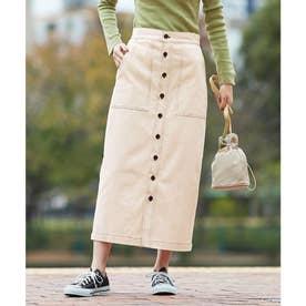 ステッチデザインタイトスカート (ナチュラル)
