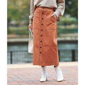 ステッチデザインタイトスカート (ブラウン)