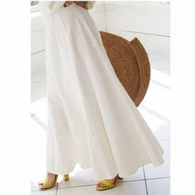 デニムソフトマーメードスカート (ホワイト)