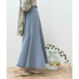 デニムソフトマーメードスカート (ライトブルー)
