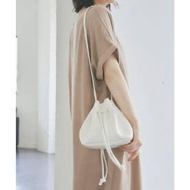 2wayコンパクト巾着バッグ (ホワイト)