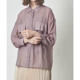 ビッグポケットシアーワークシャツ (グレイッシュパープル)