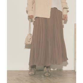 変形プリーツスカート (チャコール)