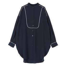 パイピングブザムシャツ (ネイビー)