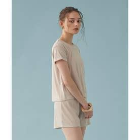 Tシャツ付ビキニ/水着4点セット【返品不可商品】  (アイボリー)