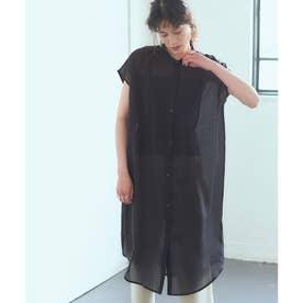 シアーブザムロングシャツ (ブラック)