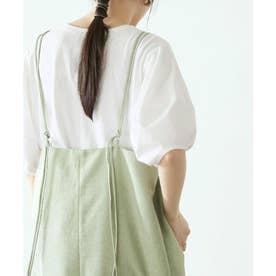 パフスリーブTシャツ (オフホワイト)