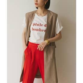 コットンカットソーロゴTシャツ (オフホワイト/ピンク)