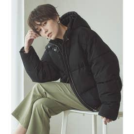 エアリー中綿ボリュームジャケットコート (ブラック)