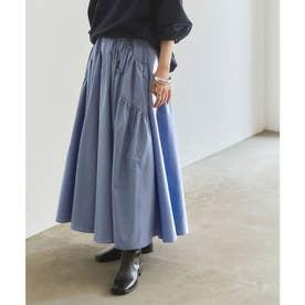 ボリュームギャザースカート (ブルー)