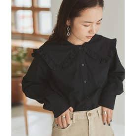 ビッグカラーフリルシャツ (ブラック)