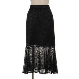 レースマーメイドスカート (ブラック)