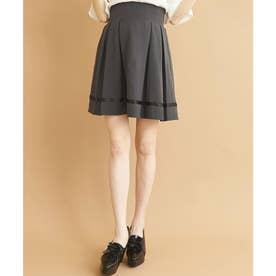 タックフレアリボンスカート (ブラック)