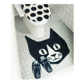 Bobbythecat (ボビーザキャット) トイレマット (ブラック(019))