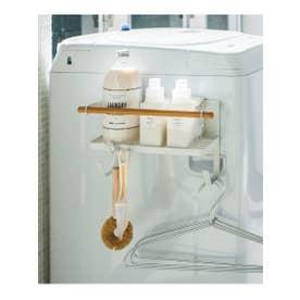tosca (トスカ) ホルダー付き洗濯機マグネットラック (ホワイト(001))