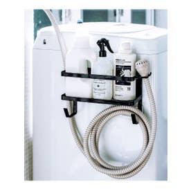 tower (タワー) ホルダー付き洗濯機マグネットラック (ブラック)