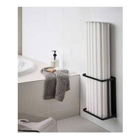 tower (タワー) マグネットバスルーム折り畳み風呂蓋ホルダー (ブラック)