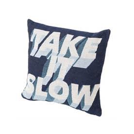 TAKE IT SLOW クッションカバー 45×45 (ネイビー)