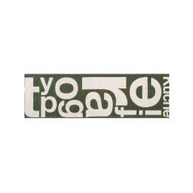 TYPOGRAPHY [typg] RUG 50×180 キッチンマット (カーキ(001))