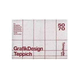 TYPOGRAPHY [GRID] RUG 50×70 マット (グレー)