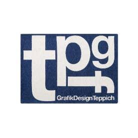 TYPOGRAPHY [tpgf] RUG 50×70 マット (ネイビー(001))