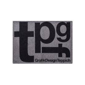 TYPOGRAPHY [tpgf] RUG 50×70 マット (グレー(001))