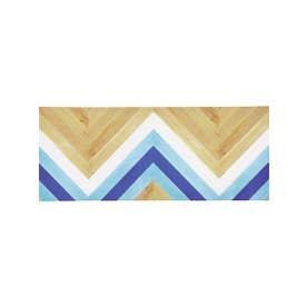 Rufus PVCロングマット 120 キッチンマット BL (ブルー)