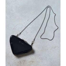 サンカクチェーンバッグ (ブラック×ブラック)