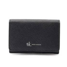 サフィアーノPVCカードケース (ブラック)