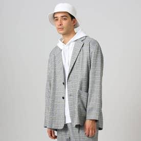 【WEB限定】ビッグシルエット オーバーサイズジャケット(セットアップ対応) (グレー)