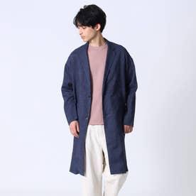 【COMFORT LINEN】リネンチェスターコート (ネイビー)