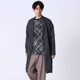 【COMFORT LINEN】リネンチェスターコート (ブラック)
