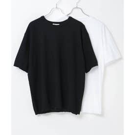 【WEB限定】サマーニット&カットソーセット アンサンブル (ブラック)