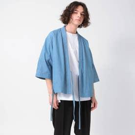 【とうきょう くらしっく】デニムサムエジャケット(5分袖) (ブルー)