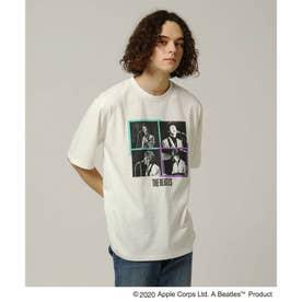 BEATLES × 「日本公演」パネルTシャツ (ホワイト)