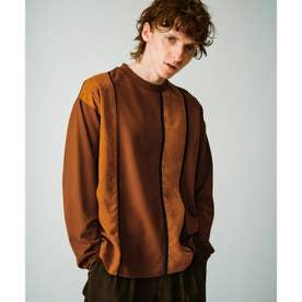 ハンドステッチTシャツ(長袖) (キャメル)