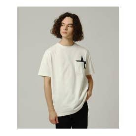 【WEB限定】USAコットン スターポケットTシャツ (ホワイト)
