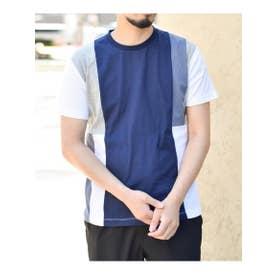 【汗染み防止・抗菌防臭】切り替え柄Tシャツ (ホワイト(501))