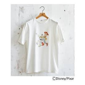 【WEB限定】トイストーリー ウッディ&バズTシャツ (ホワイト(001))