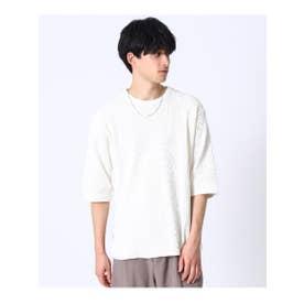 ワッフルプルオーバー(6分袖) (オフホワイト(003))