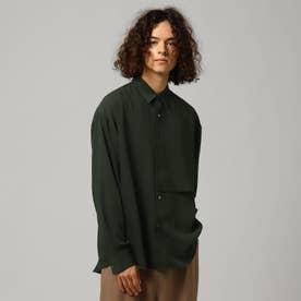ナメラカツイルレイヤードシャツ (モスグリーン)